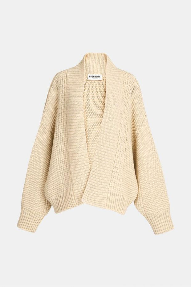 Essentiel Antwerp Cardigan WIELD deep armhole - Off White