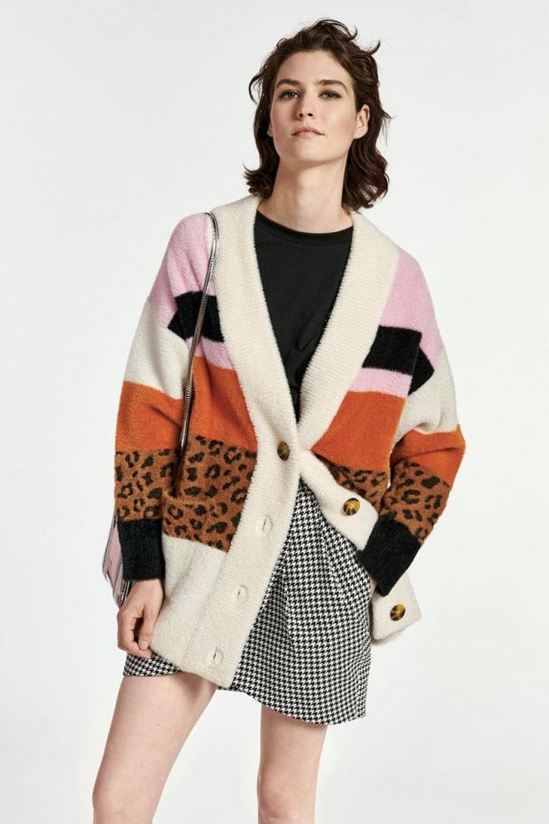 Essentiel Antwerp Gilet WARDIGAN striped cardigan - Combo Off White