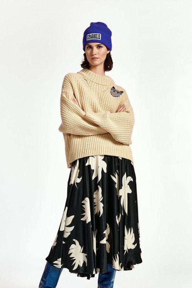 Essentiel Antwerp Jupe WOD Midilength circle skirt - Combo Black