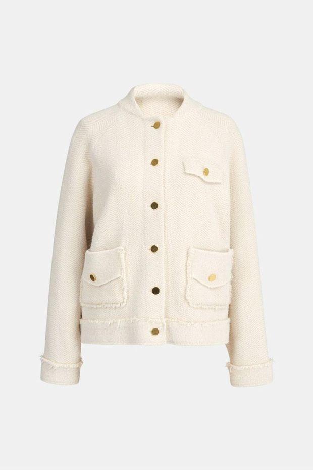 Essentiel Antwerp Veste WEW Lurex Cardigan - Off White