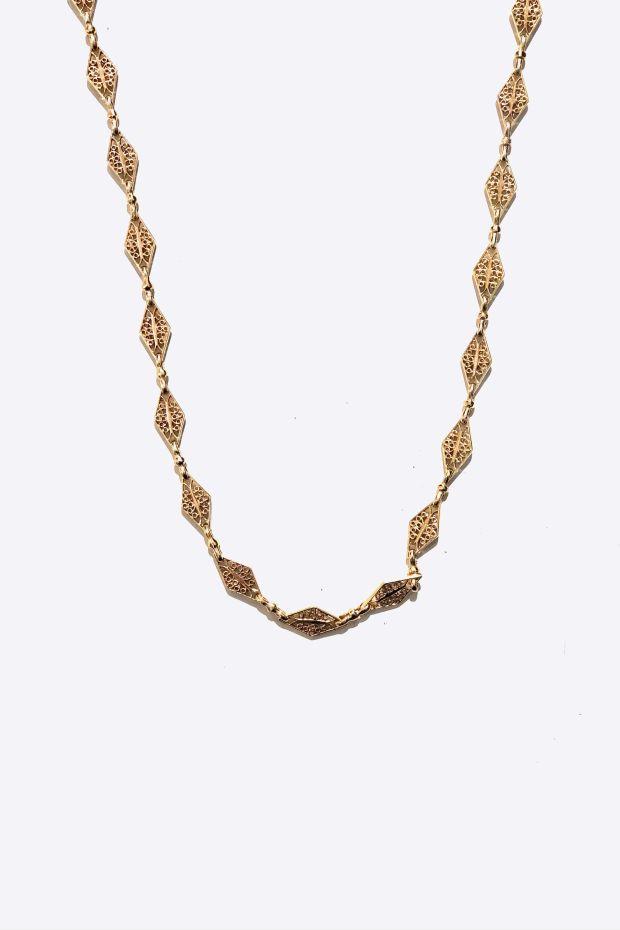 Bohemian Rhapsodie Collier ADA - Argent plaqué Or 5 Microns