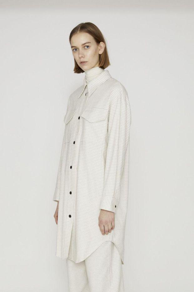 Designers Remix Robe ALFIE - CreamBlack Check