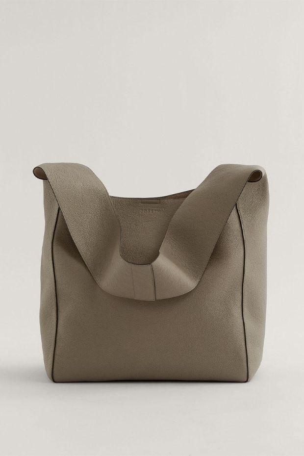 Joseph Sac Slouch XL - Grain Leather Grey