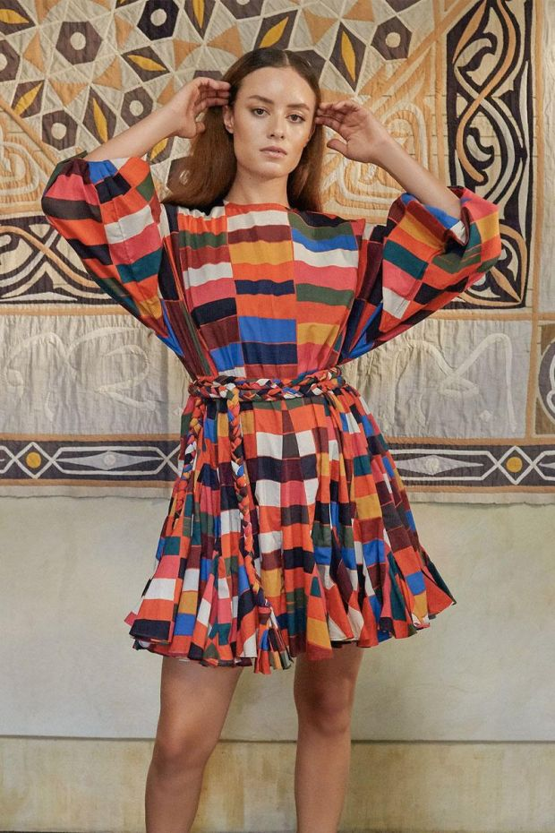 RHODE ELLA Dress - BRICK