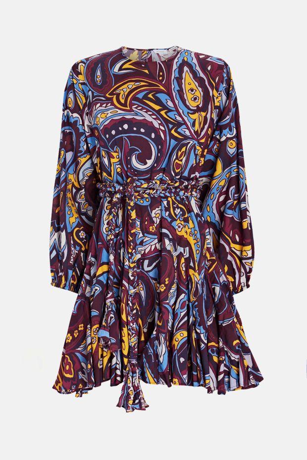 RHODE ELLA Dress - Retro Paisley Ice