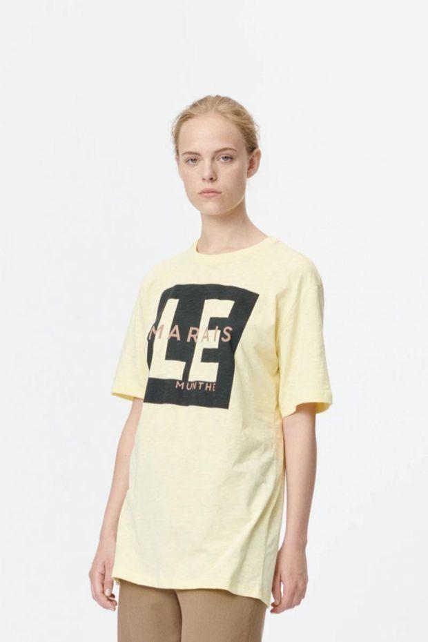 MUNTHE T-Shirt SUNRISE - Yellow