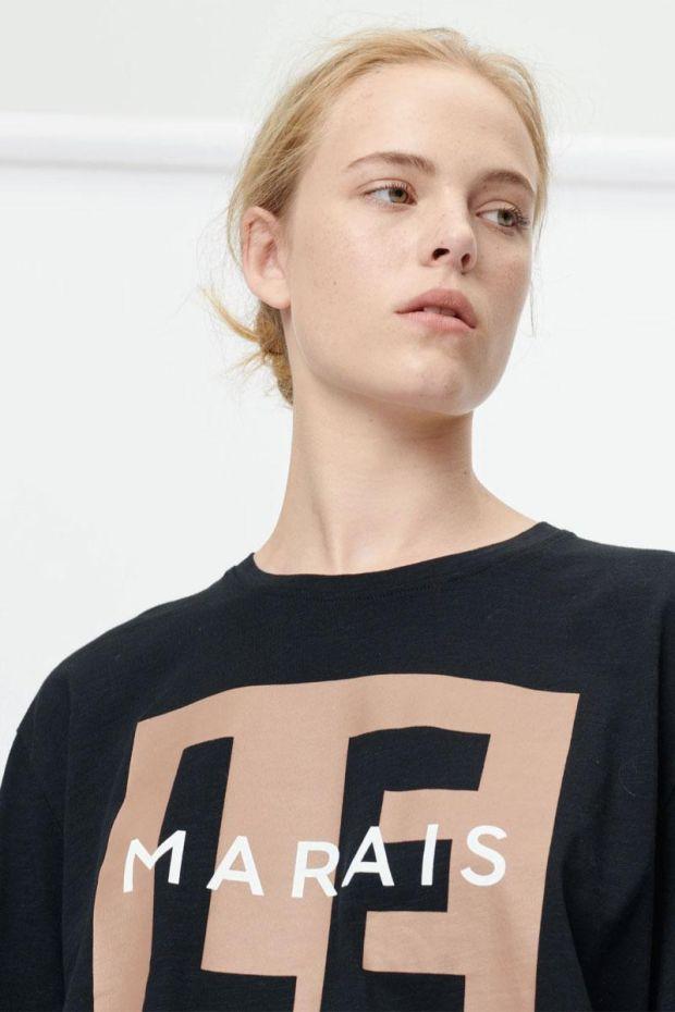 MUNTHE T-Shirt SUNRISE - Black