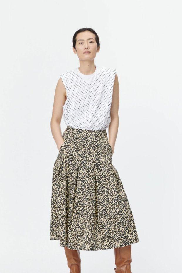MUNTHE Jupe SAMI Skirt - Yellow