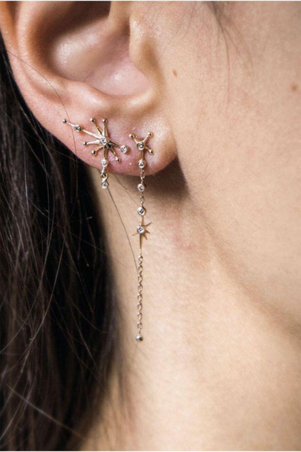 CELINE DAOUST Boucle d'Oreille Constellation Diamants - L' Unité