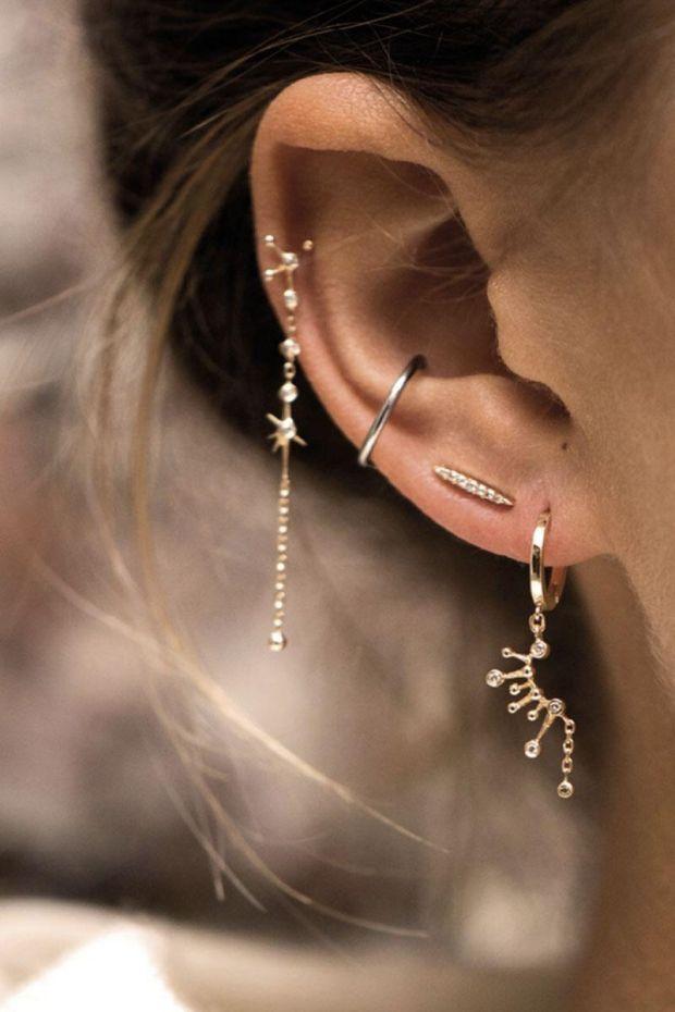 CELINE DAOUST Créole Constellation Diamants, chaine - L' Unité