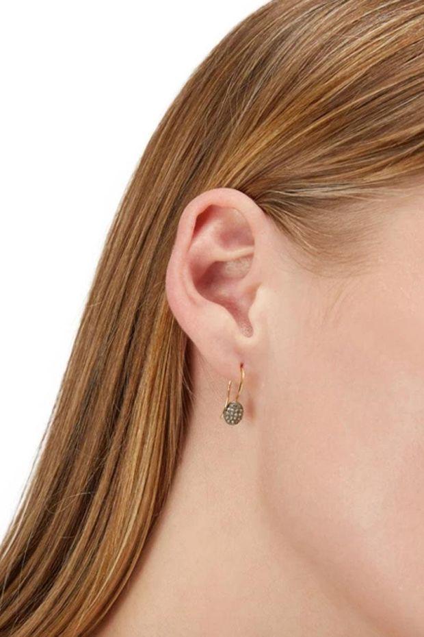 5 Octobre Boucles d'oreilles PILLI 3 Argent rhodié - Argent doré Or fin & Diamants