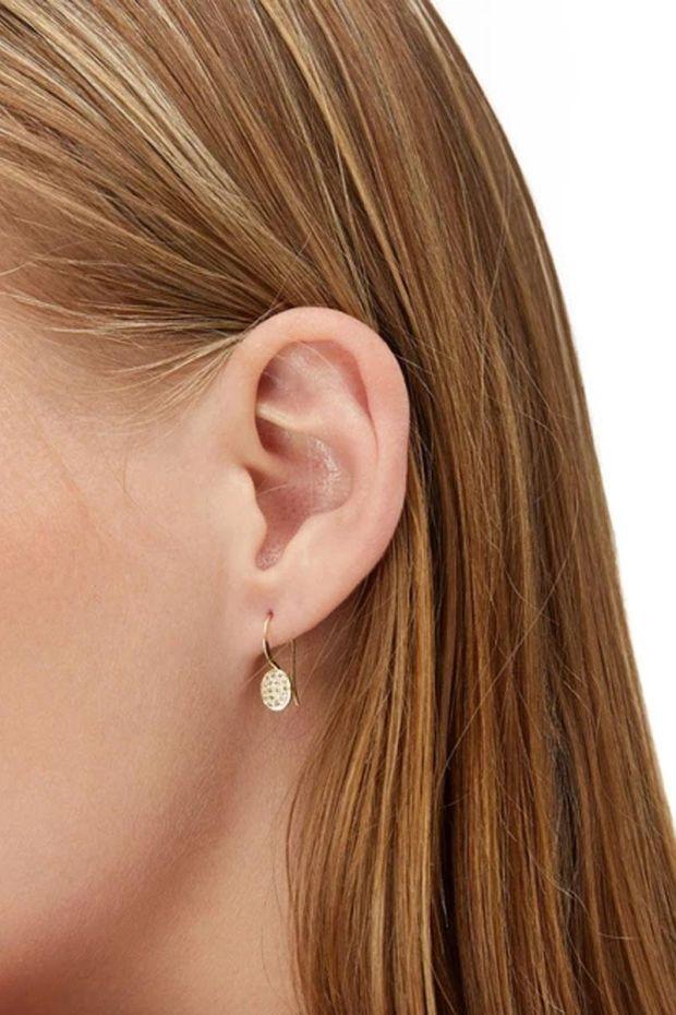 5 Octobre Boucles d'oreilles PILLI 3 - Argent doré Or fin & Diamants