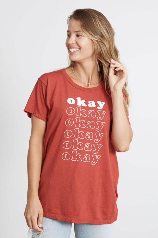good hYOUman. T-Shirt LULA Okay Repeat - Lychee