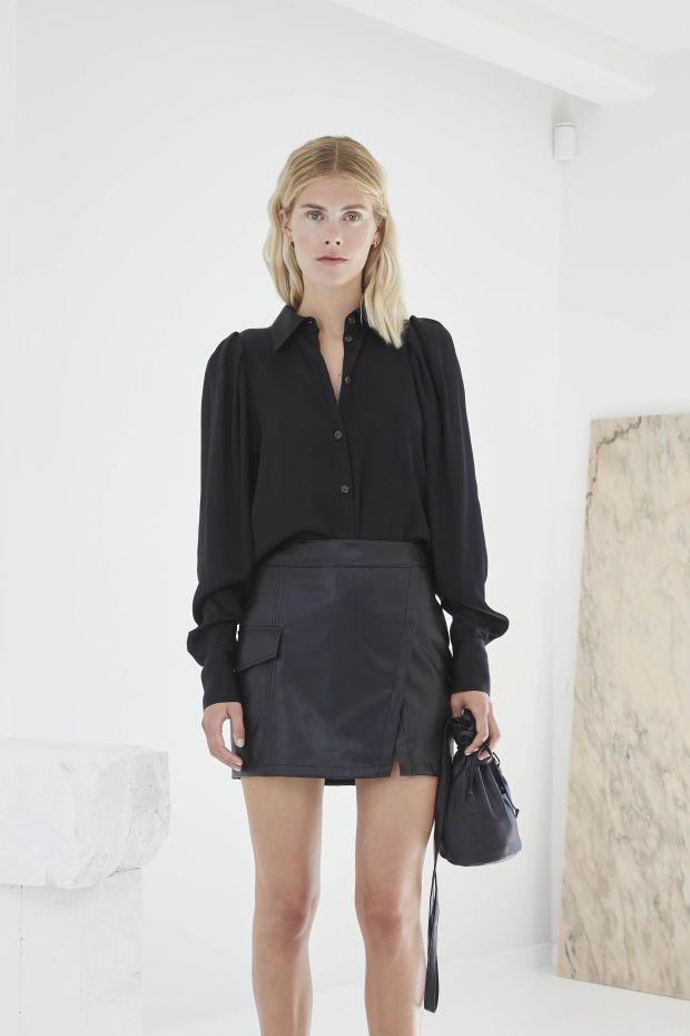 Designers Remix Chemise EMME Sleeve Shirt - Black