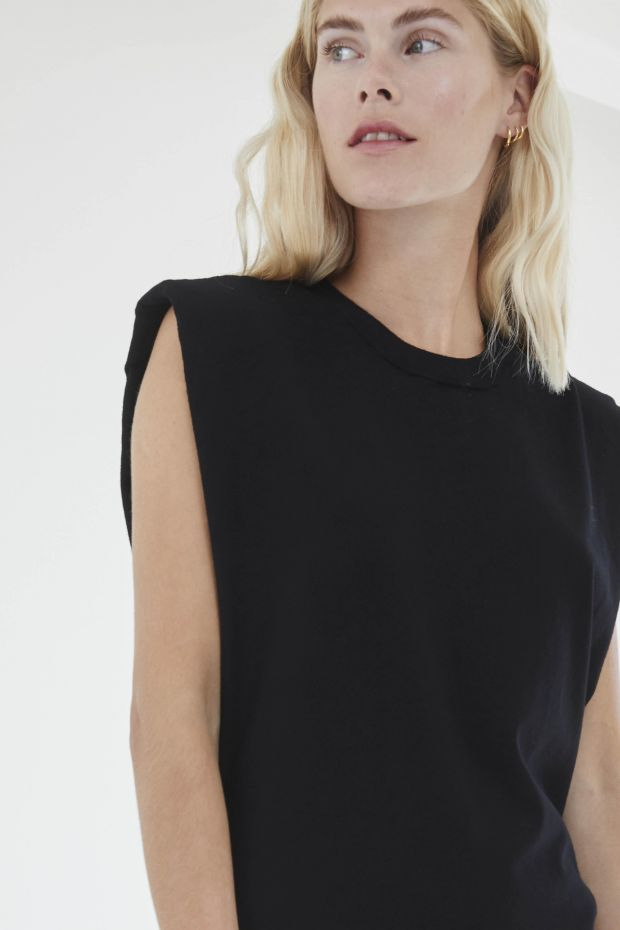 Designers Remix MANDY Muscle Tee - Black