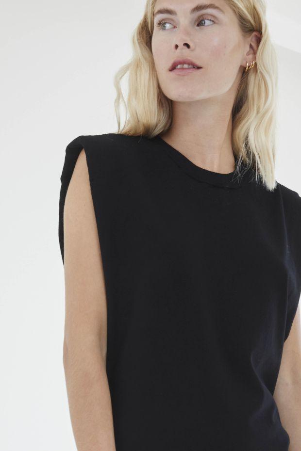 Designers Remix MANDY Muscle Tee - Black