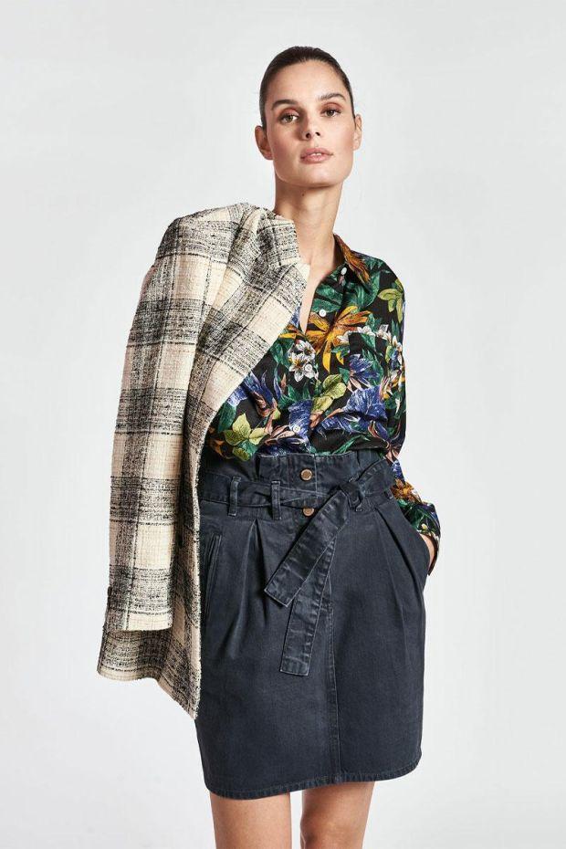 Essentiel Antwerp Jupe ZAN Colour Denim Mini Skirt - Black