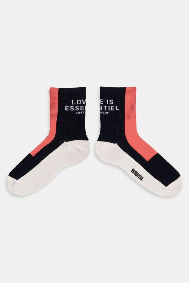 Essentiel Antwerp Chaussettes ZEOMETRIC Text Pattern Socks - Combo Parisian