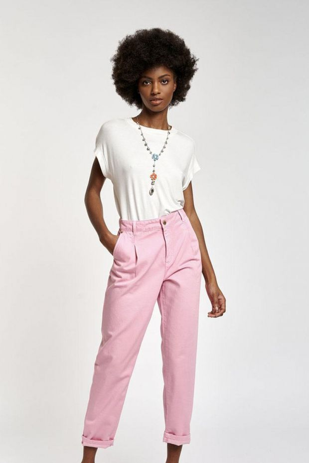 Essentiel Antwerp Pantalon ZERROR Loose Fit - Fairy Tale