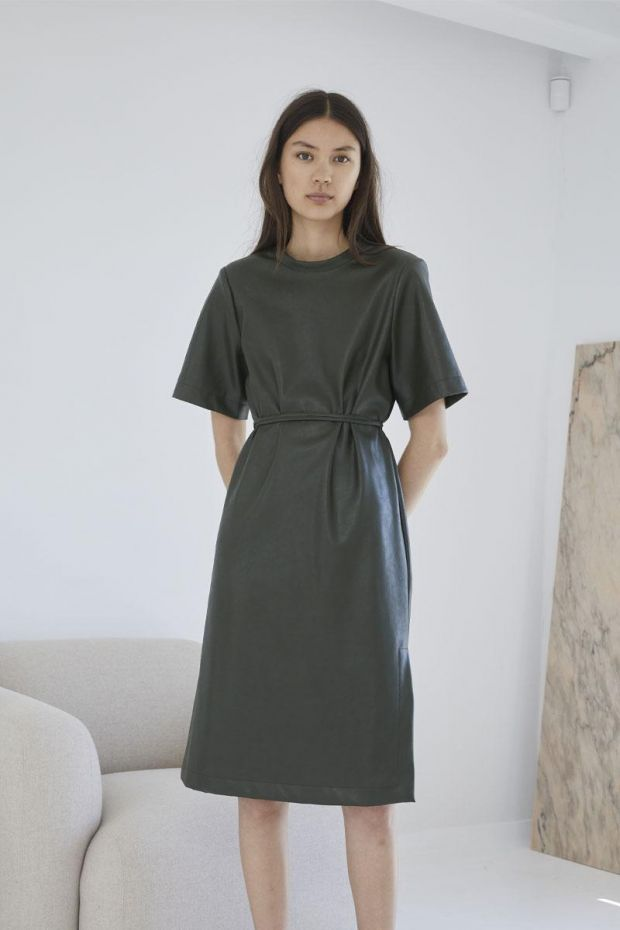 Designers Remix Robe MARIE Dress - Olive