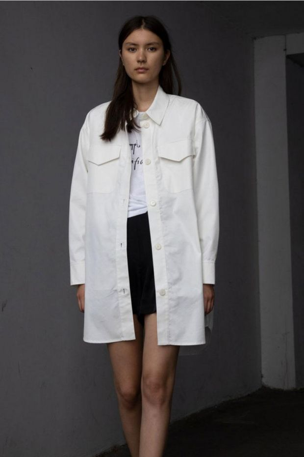 Designers Remix Veste BILLY Shirt Coat - Cream