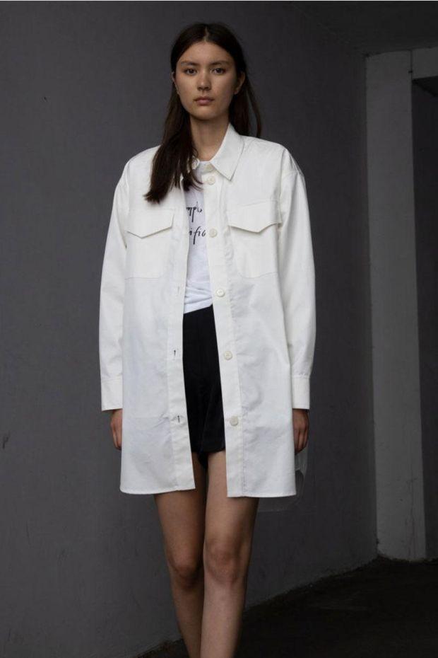 Designers Remix Veste BILLY Shirt Coat - Cream