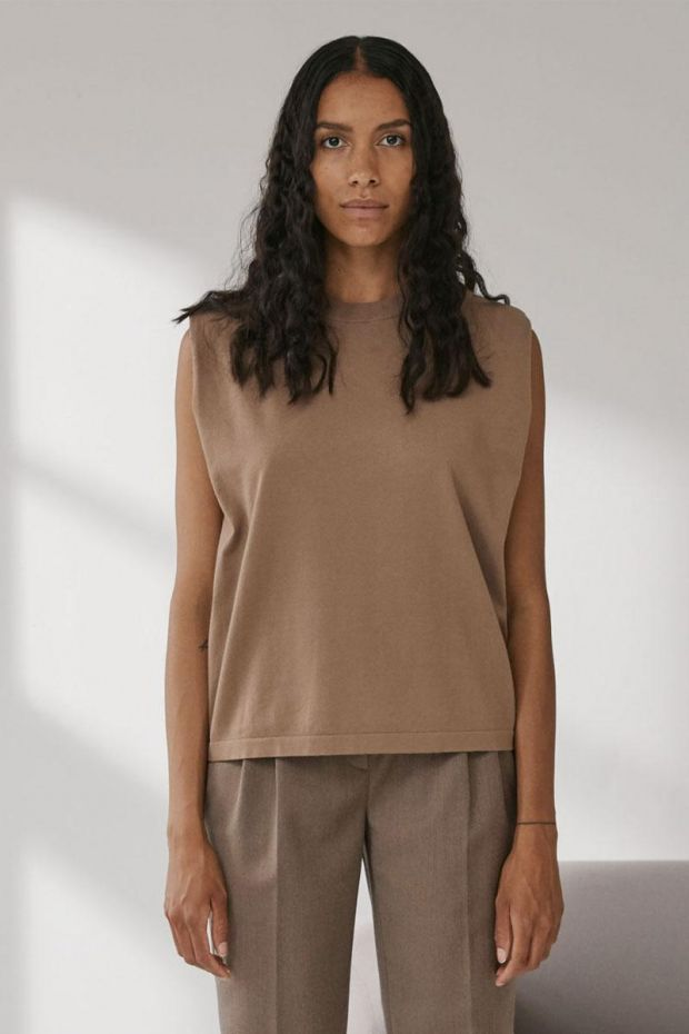 Designers Remix MANDY Muscle Tee - Taupe