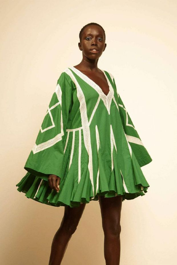 RHODE Robe CARA Dress - Emerald