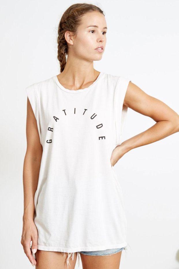 good hYOUman. Tee Shirt AVA - Gratitude Arch - Blanc