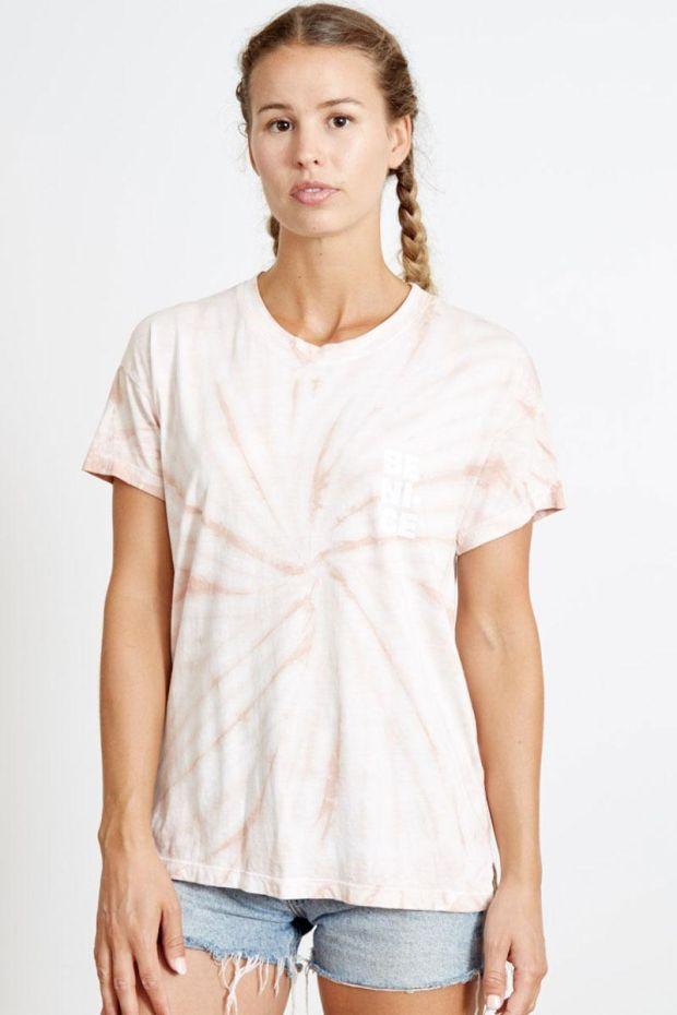 good hYOUman. Tee Shirt BRICE - Be Nice - Cloud pink hurricane