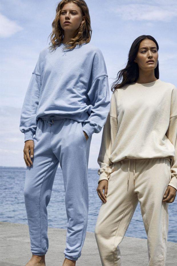 Coster Copenhagen CC Heart Oversize Sweat Pants - Dusty Blue