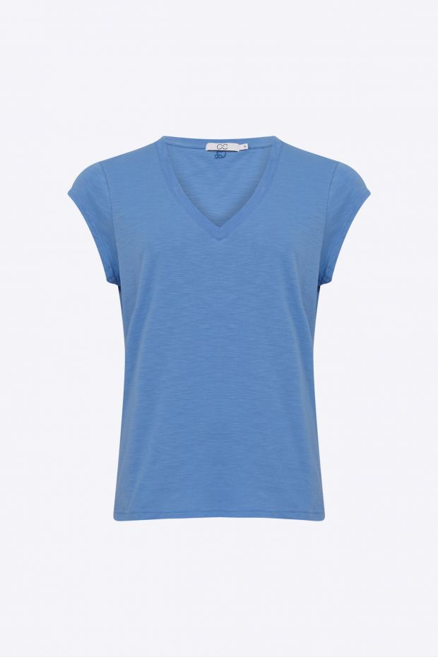 Coster Copenhagen CC Heart Basic V-neck T-Shirt - Airy Blue