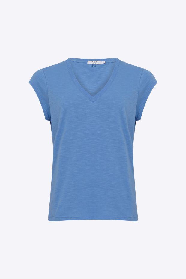 Coster Copenhagen CC Heart Basic V-neck T-Shirt - Airy Blue