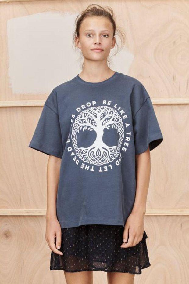 MUNTHE Tee Shirt TRACK - Charcoal