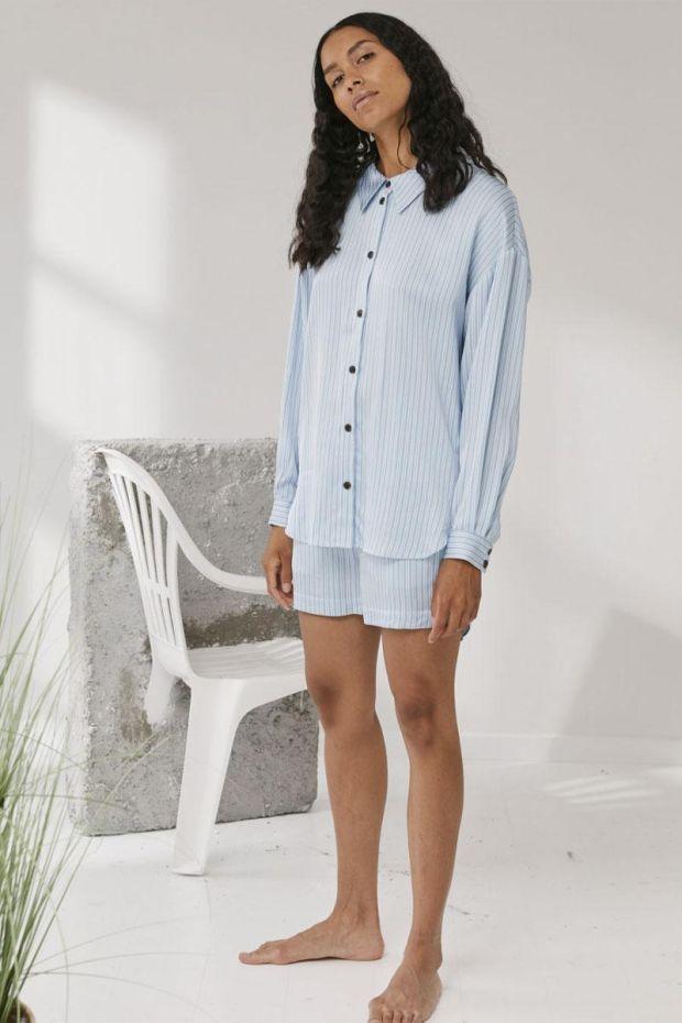 Designers Remix Chemise EMME shirt - Blue Cream