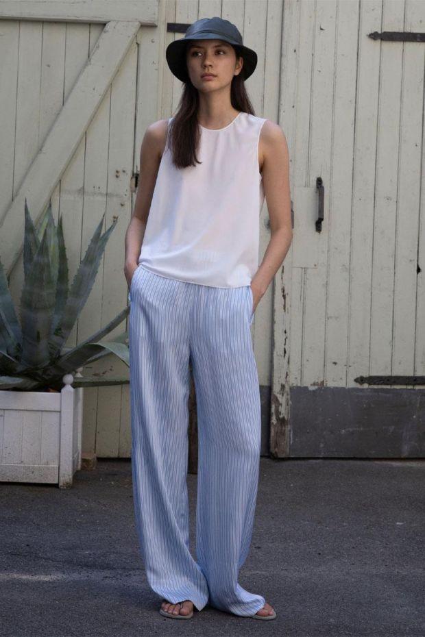 Designers Remix Pantalon EMME Wide Pants  - Blue Cream