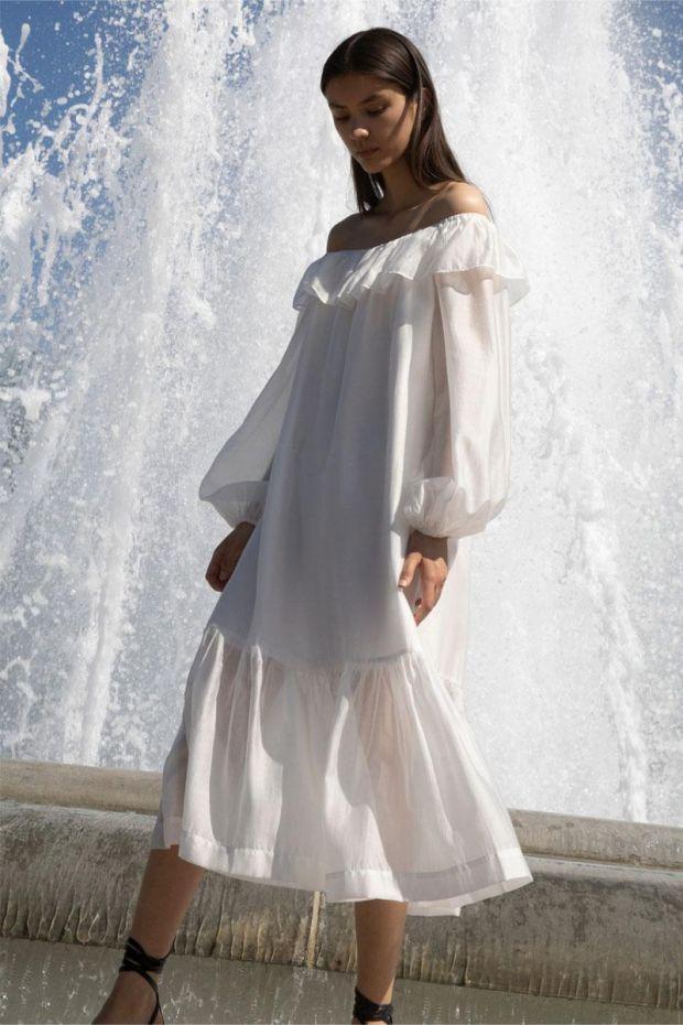 Designers Remix Robe SONIA Off-Shoulder Dress - White