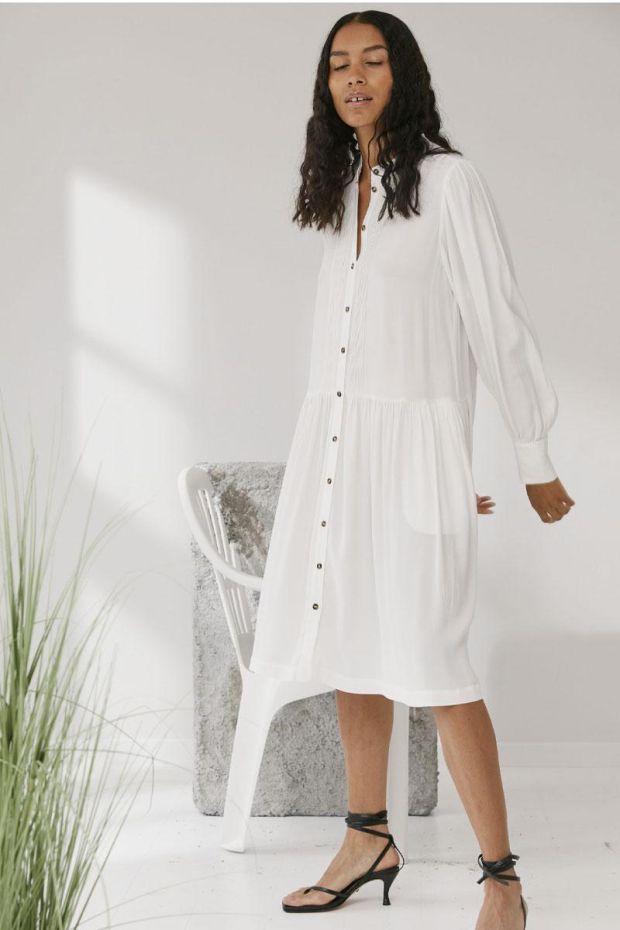 Designers Remix Robe ELIZA Sleeve Dress - Cream
