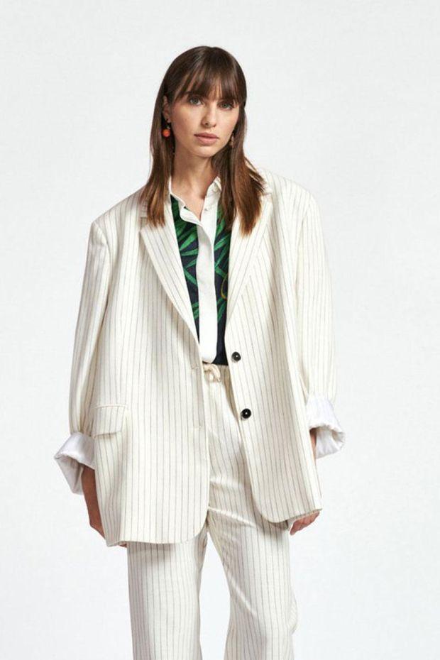 Essentiel Antwerp Veste ZURIAL Kimono Blazer - Combo Off White