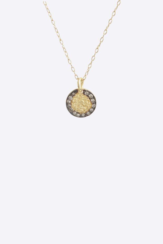 5 Octobre Collier JEF - Argent doré Or fin, Argent Oxydé & Diamants