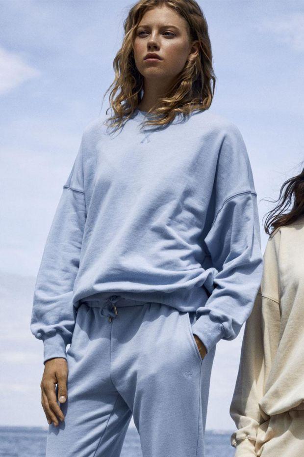 Coster Copenhagen CC Heart Oversize Sweatshirt - Dusty Blue