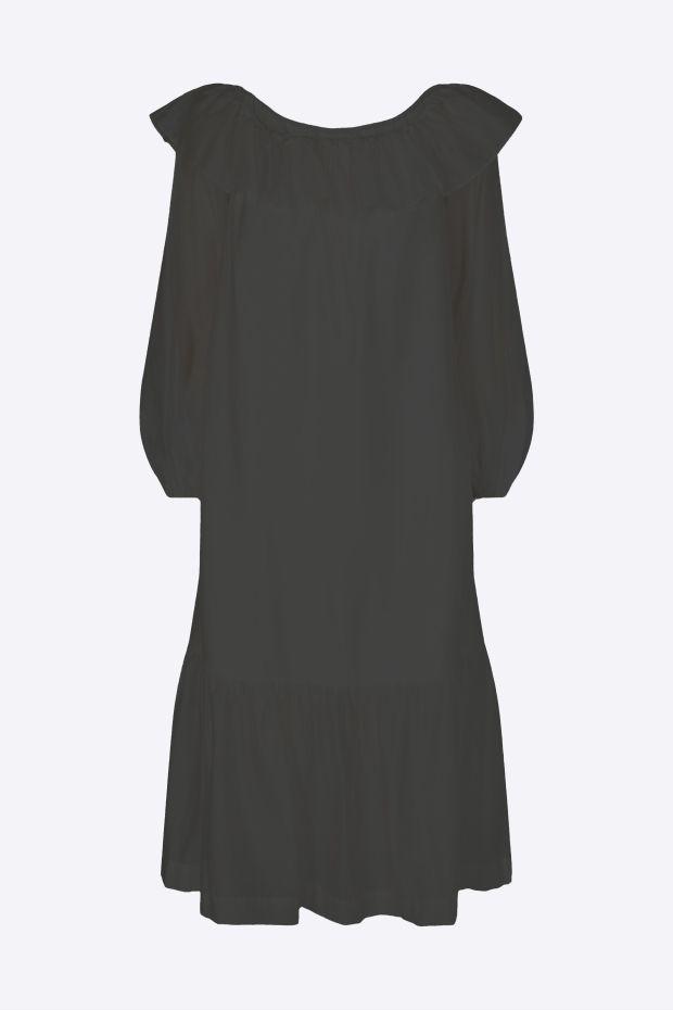 Designers Remix Robe SONIA Off-Shoulder Dress - Black