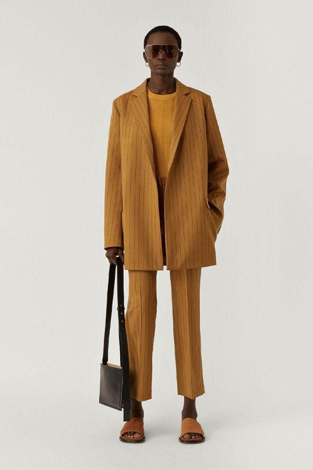 Joseph Blazer JULES Wool Spring stripe - Oak