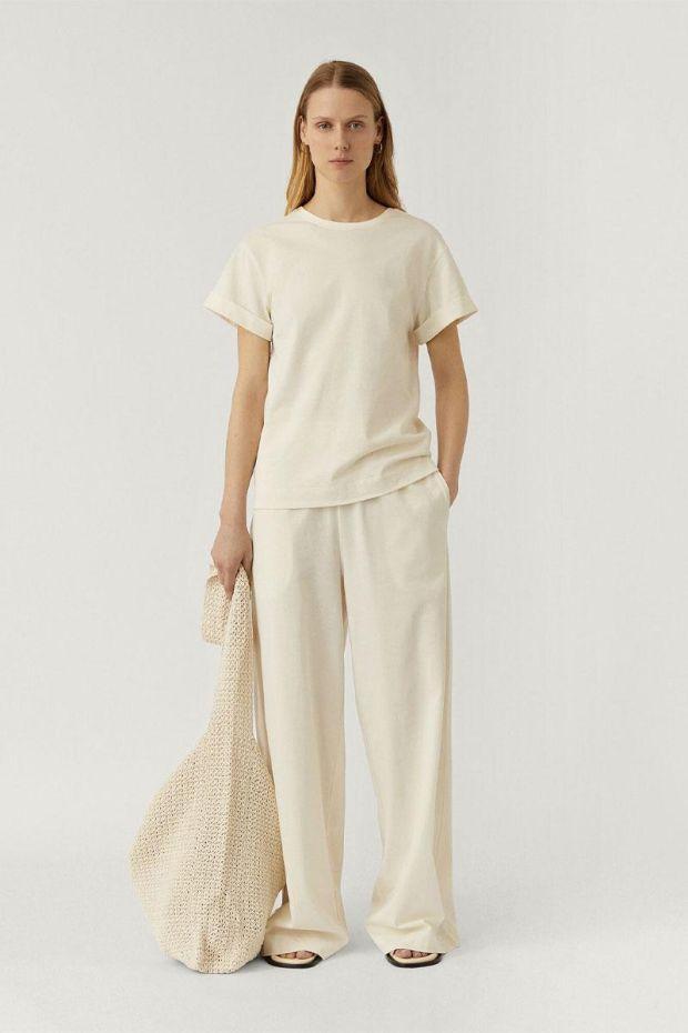 Joseph Pantalon Paper Jersey - Ivory
