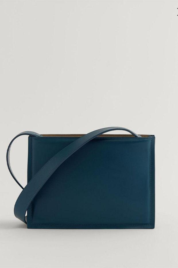 Joseph Sac TRIPLE BAG Leather - Blue Steel