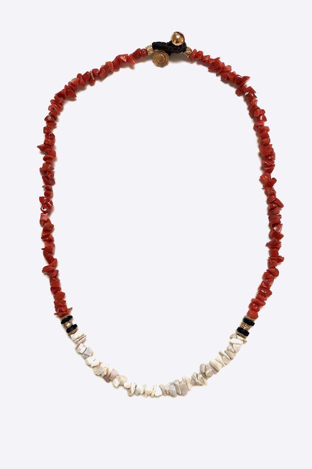 Bohemian Rhapsodie Collier ALICUDI - Corail Rouge & Blanc