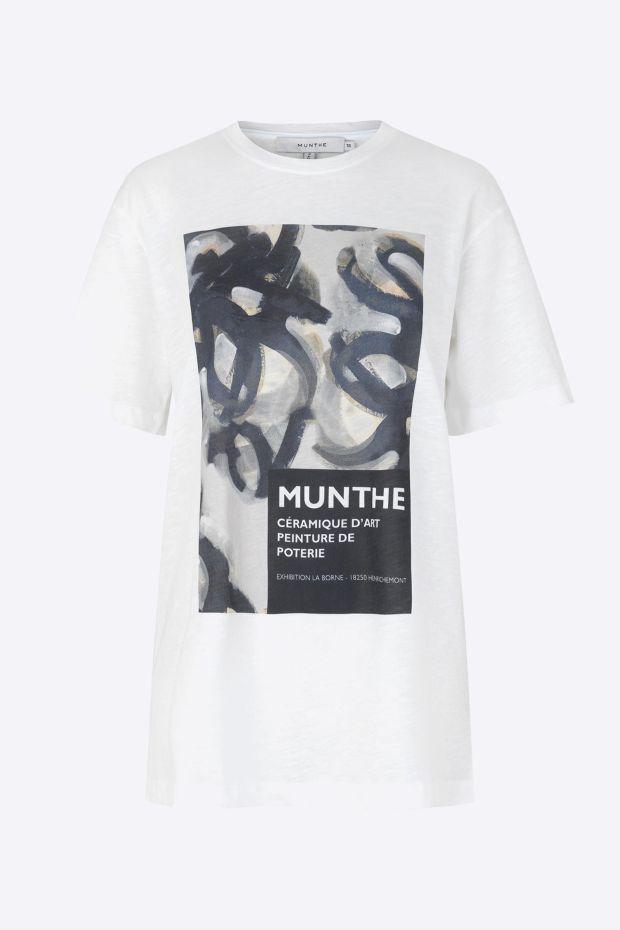 MUNTHE T-Shirt ROBIN - White