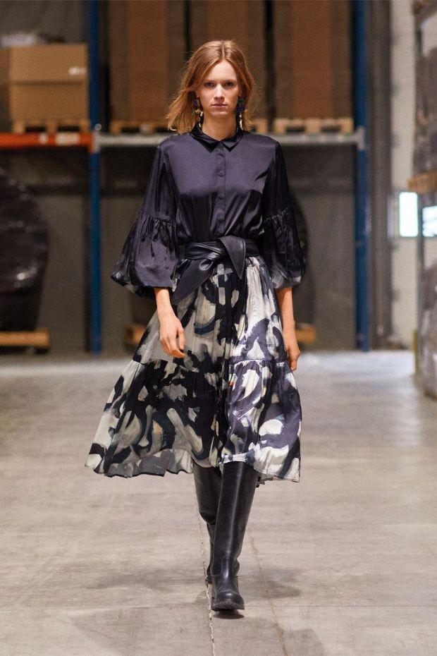 MUNTHE Robe ROLE - Black