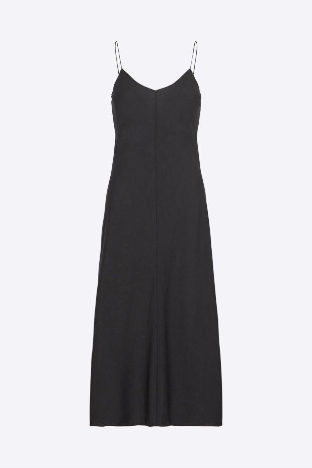 Designers Remix Robe VALERIE Long Slip Dress - Black