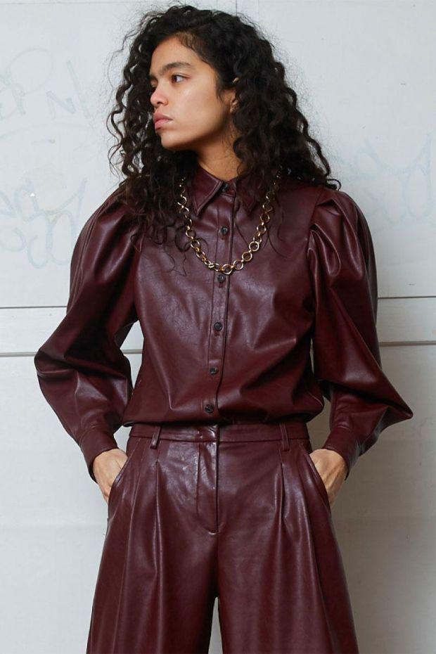 Designers Remix Blouse MARIE Sleeve - Burgundy